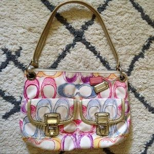 Authentic Coach Pastel Hobo Shoulder Bag Handbag